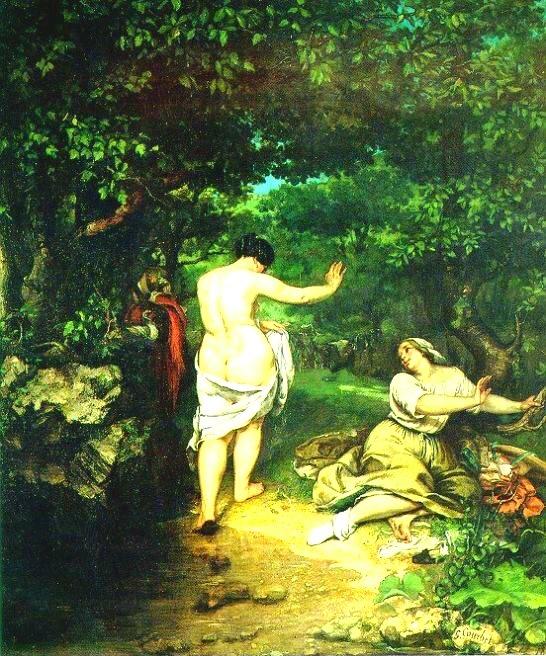 쿠르베는 사실주의 화풍의 누드 작품을 그렸습니다.