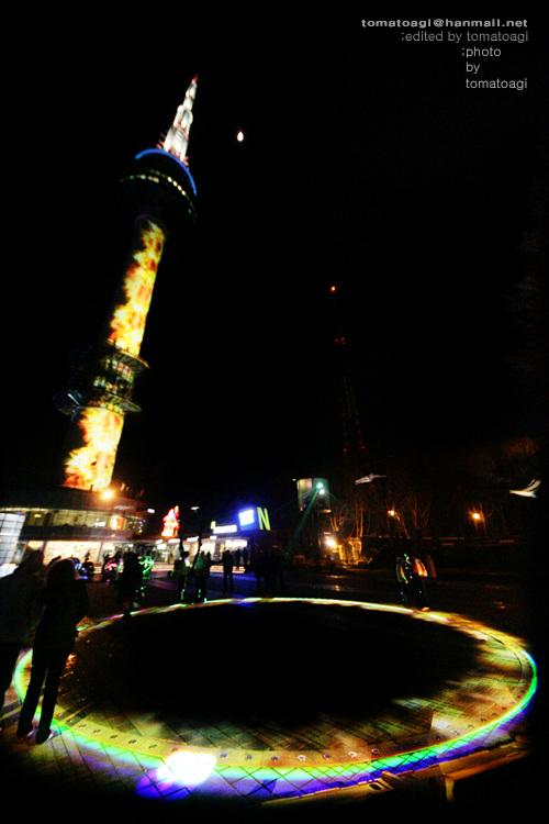 韩国 南山塔 夜景