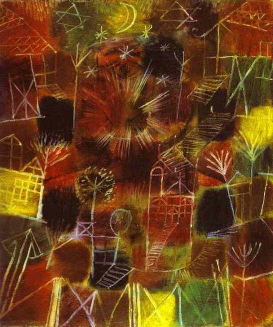 클레는 예술이란 천지창조 과정을 그대로 반영한다고 보았습니다.