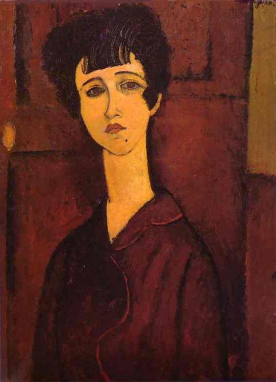"""모딜리아니의 '젊은 여인""""작품에서 진솔한 영혼의 표정을 읽습니다."""