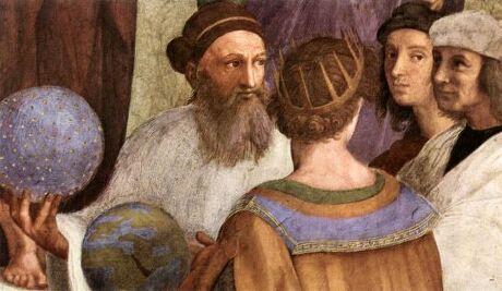 Detalle de La Escuela de Atenas